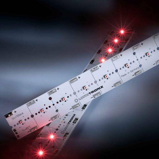 PowerBar V3 LED Module Aluminium hyper-Red 660nm 700mA 12x Osram Oslon SSL LEDs 11.41in/29cm