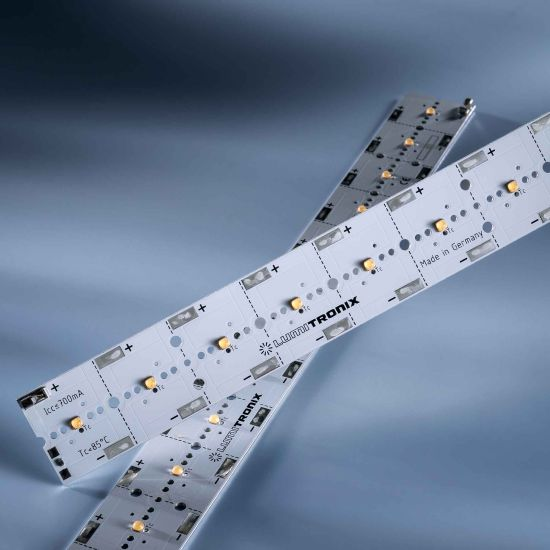 PowerBar V3 LED Module Aluminium warm white 3000K 2838lm 700mA 12x Osram Oslon LEDs 11.41in/29cm (3025lm/ft)