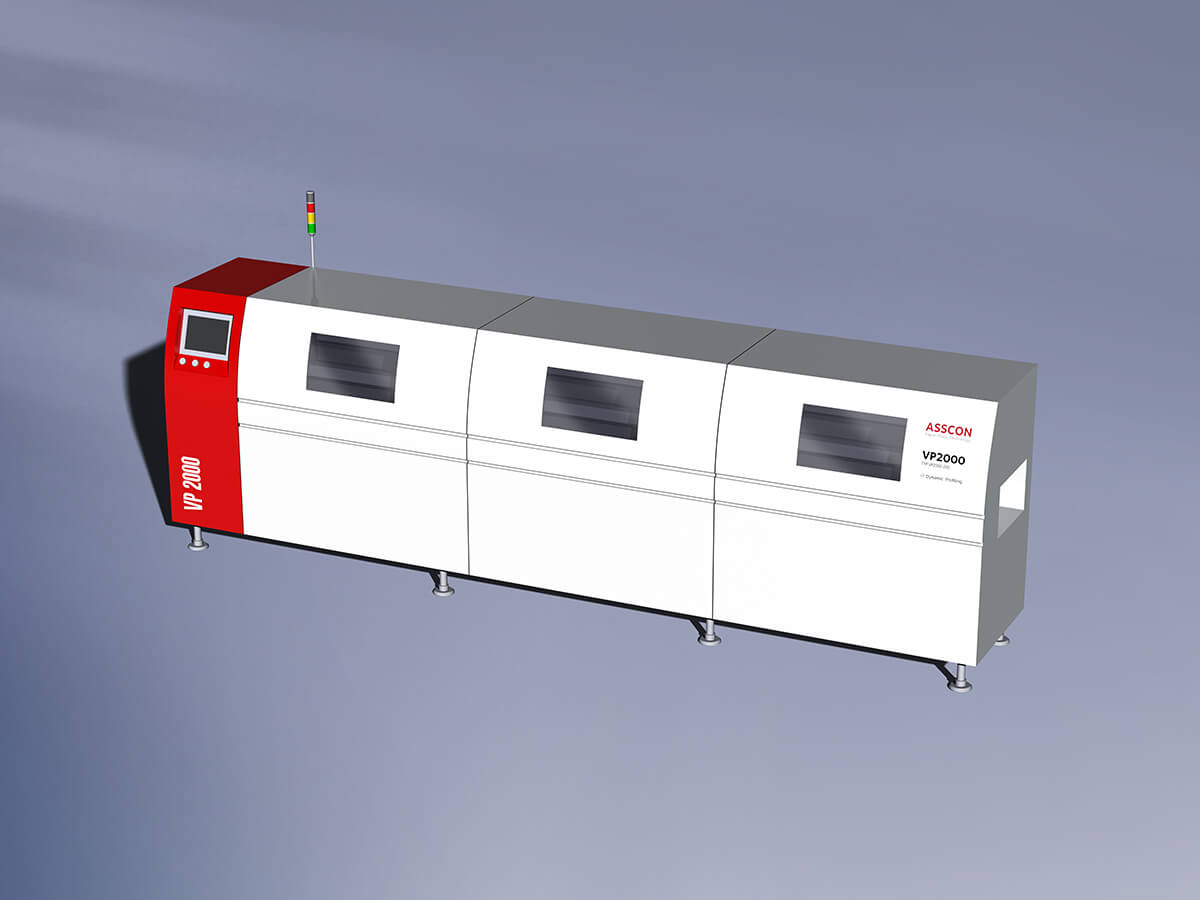 Vapour phase soldering line Nichia module production
