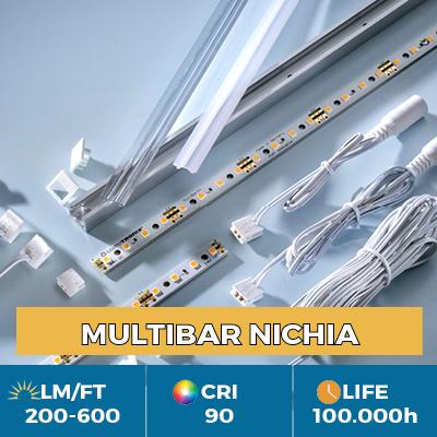 Professional Multibar Nichia LED Strips, Plug & Play, CRI90+, flux up to 600 lm/ft