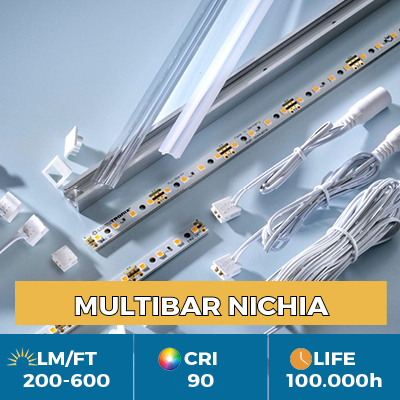 Professional Multibar Nichia LED Strips, Plug & Play, CRI90 , flux up to 600 lm/ft